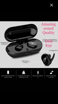 Brand New High Quality Best Handsfree Built-in  Microphone Headphone Wireless in ear Gym Sport Bluetooth Earbuds for ANY smart phone  Victoria, V9E
