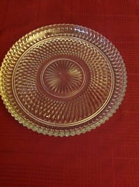 Clear glass round platter  Metairie, 70005