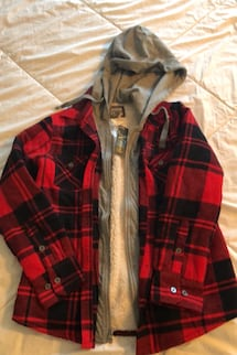 New Flannel Jacket with Sherpa lining