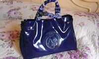 Tote bag in pelle blu e bianca Firenze, 50142