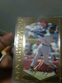 signed Upper Deck baseball player trading card Snellville, 30078