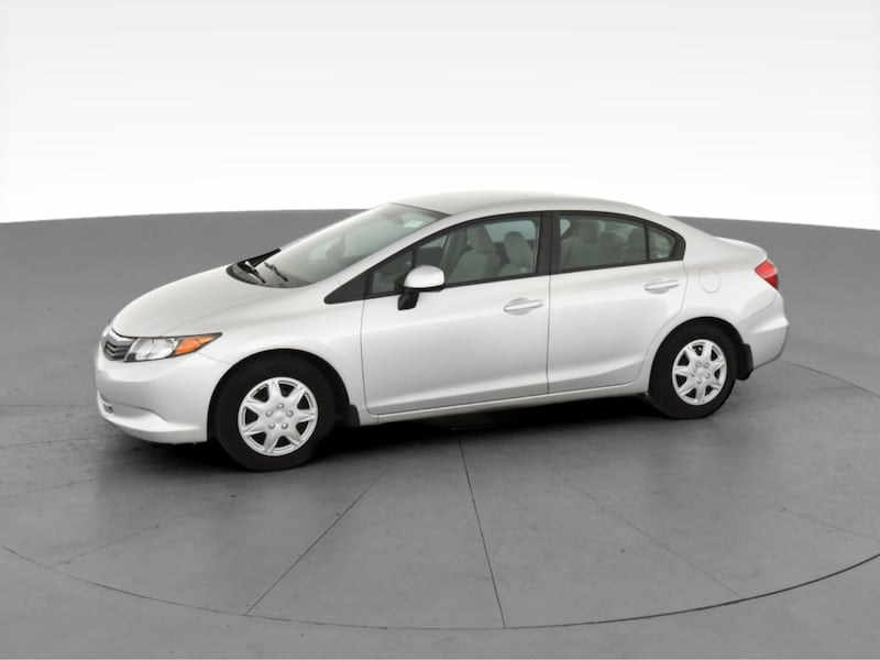 2012 Honda Civic sedan LX Sedan 4D Burgundy  3