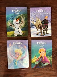 Four hard cover Frozen books all new  Toronto, M9P 1P7