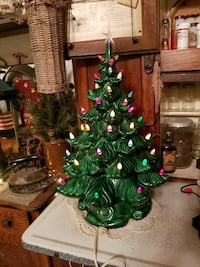 """21"""" cermaic Christmas tree  FIRM Hagerstown, 21740"""