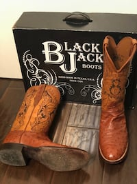 Black jack ostrich boots Houston, 77026
