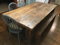 Harvest Table made with 150 year old barn wood. Burlington, L7T 1Z1