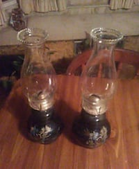 two clear glass candle holders Superior, 54880