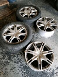255 55 R18 4 rims and two winter tires 60 % use 5x120 pattern   Calgary, T2X 3W4