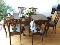 brown wooden dining table set Woodstock, 21163