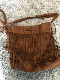 brown leather crossbody bag with fringe Vaughan, L4H 1H9