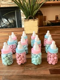 12 plastic candy baby bottles with m&ms Fontana, 92336