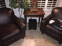 Two high end leather chairs Scottsdale, 85250