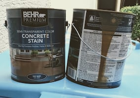 (2)1 gal buckets of Behr Concrete stain..Full buckets..Copper color