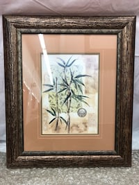 brown wooden framed painting of coconut tree Gaithersburg, 20879