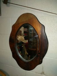 brown wooden framed wall mirror Oklahoma City, 73119