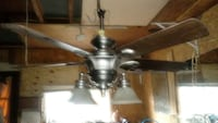 stainless steel frame brown 5-bladed ceiling with lights Mishawaka, 46544