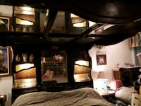 King size waterbed with mirror canopy  Las Vegas, 89108