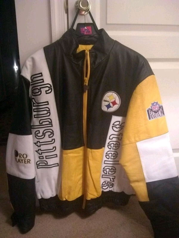 brand new 0a26b 4d802 Pittsburgh Steelers Leather Pro Player Jacket