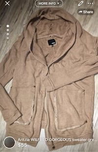 Aritzia WILFRED GORGEOUS sweater great for layering size L-great condition  London, N5W 6E3