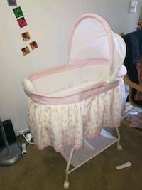 baby's white and pink bassinet Farmington, 48335