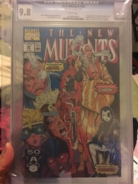 New Mutants 98 CGC 9.8 1st Deadpool White Pages San Bruno, 94066