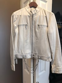 White Leather Jacket Port Coquitlam