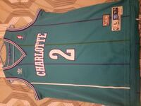 Throw Back Stiched Larry Johnson Hornets Jersey.