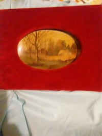 Late 1800s painting on leather board Central, 70739