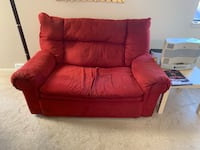 Red fabric padded sofa chair Montgomery Village, 20886