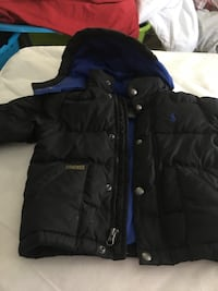 black and blue zip-up jacket Hopatcong, 07843