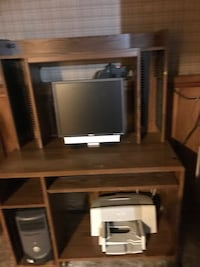 Brown wooden desk with hutch Liverpool, 13090