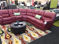 *Brand New* Red Leather Reclining Sectional  Norfolk, 23502
