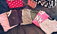 6 NEW VS PINK SHIRTS FOR $55