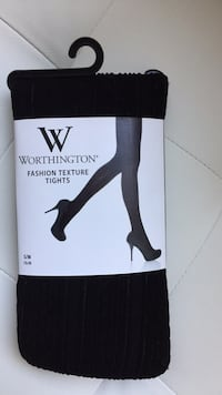 Black packaged textured tights (S/M) Boston, 02115