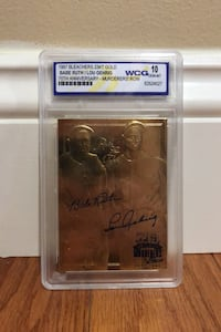1997 Bleachers 23KT Gold Babe Ruth and Lou Gehrig PSA 10 Manassas, 20112