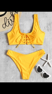 Yellow bikini bathing suit  Toronto, M9V 2Z2