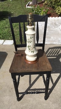 Buy wooden barstool get lamp free without shade Kissimmee, 34741