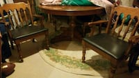 Wooden card table with 4 chairs  Burlington, L7L 5S9
