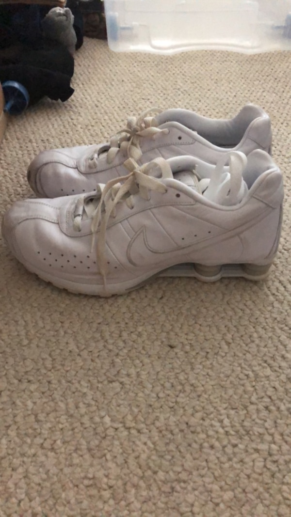 outlet boutique stable quality the latest Men's White Nike Shox Shoes Size 12