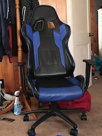 Black and blue leather game chair Sparta, 28675