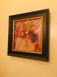 Brown wooden framed painting of flowers Hackensack, 07601