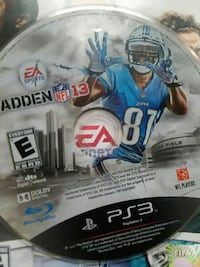 EA Sports Madden NFL 13 Sony PS3 game disc.