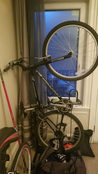 blue and black hardtail mountain bike Vancouver, V6L 3A1