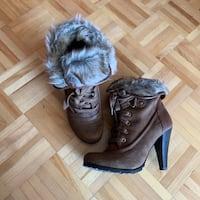 Jessica Brown Boots with fur 多伦多, M2N 3G2