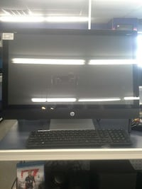 black HP flat screen computer monitor with keyboard Brownsville, 78521