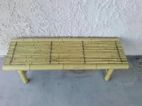 Cute bamboo bench