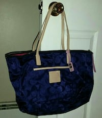Large Purple Coach Tote