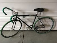 black and green road bike 2236 mi
