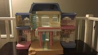White, pink, and brown 2-strorey doll house Calgary, T3K 6B6