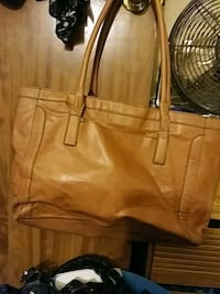 women's brown leather tote bag Athens, 30607